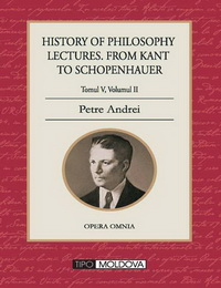 coperta carte history of philosophy lectures from kant to schopenhauer de petre andrei