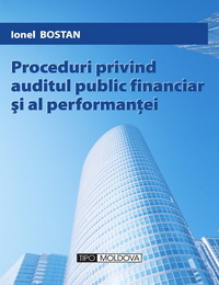 coperta carte proceduri privind auditul public financiar si al performantei de ionel bostan